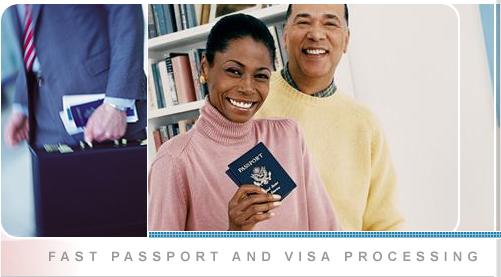 Image of a couple holding a passport